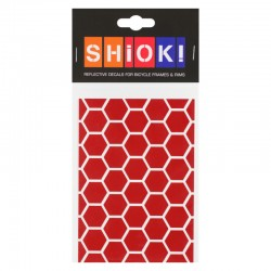 SHIOK! Reflektor-Folienset Honeycomb rot